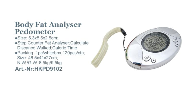 Body Fat Analyser Pedometer_Art.-Nr:HKPD9102